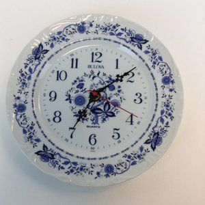 Bulova Porcelain Plate Quartz Wall Clock